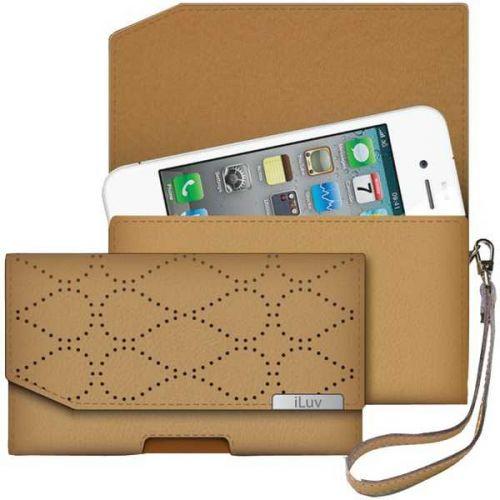 Iluv Iphone 5 Leather Artisan Clutch (tan)