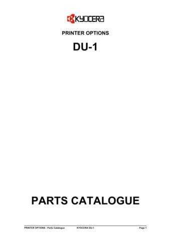 KYOCERA DUPLEXER DU-1 PARTS MANUAL by download #148396