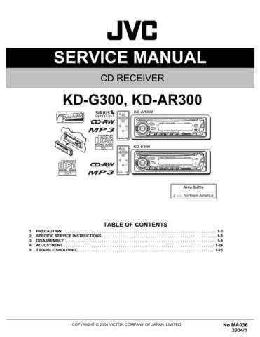 JVC KD-G300 Service Schematics by download #156072
