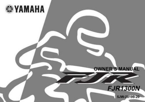 Yamaha FJR1300 OWNERS MANUAL by download Mauritron