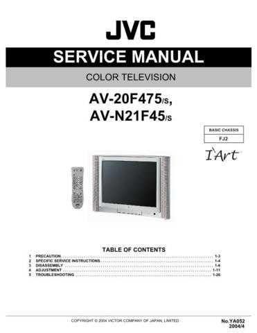 JVC AV-20F475 Service Schematics by download #155310