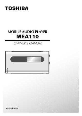Toshiba MV13K1 MV19K1 2 Manual by download #172226