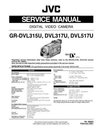 JVC GR-DVL315U CDC-1441 by download #155673