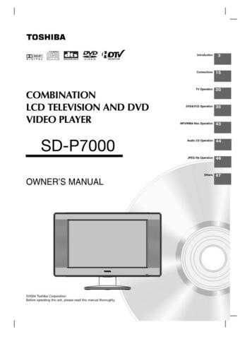 Toshiba SD22VB E L CD PAGES 1-20 Manual by download #172314