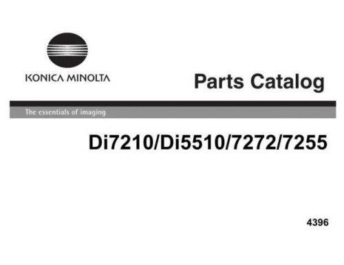 Minolta PARTSDI7210 DI5510 Service Schematics by download #137538