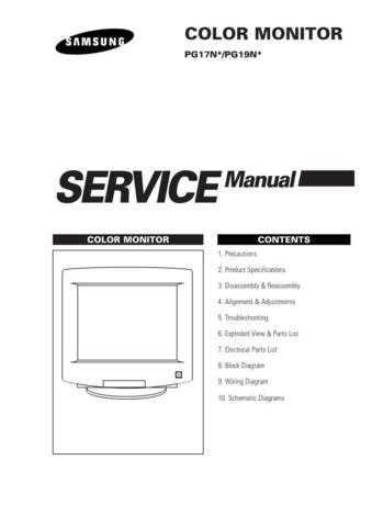 Samsung PG19NSBU EDCNL040E01 Manual by download #164998