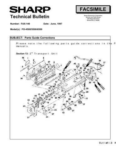 Sharp FAX140 Technical Bulletin by download #138889