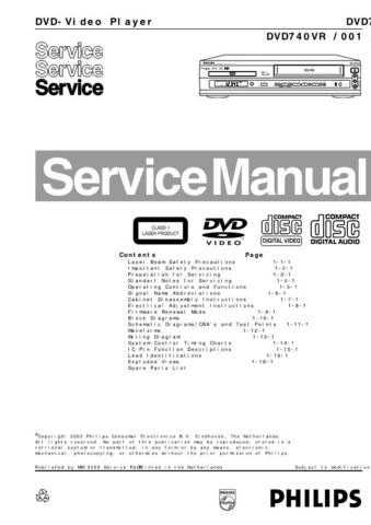 PHILIPS DVD740 CDC-1409 by download #157150