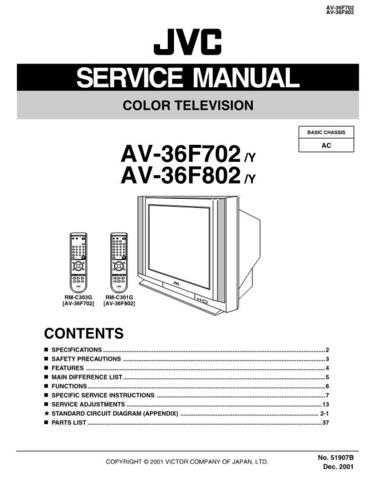 JVC AV-36F702 Service Schematics by download #155372