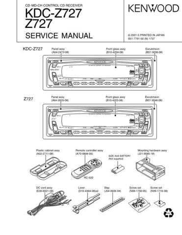 KENWOOD KDC-X917 X817 9017 Service Manual by download #151908