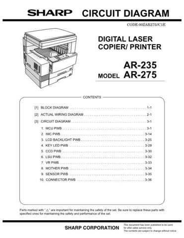 Sharp ARFN1A1E Service Manual by download #138811