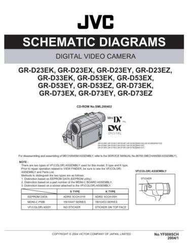 JVC GR-D73E sch Service Schematics by download #155624