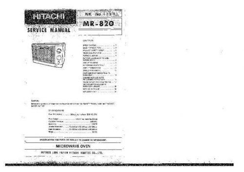 Hitachi HITACHI-MR820 Manual by download #171002