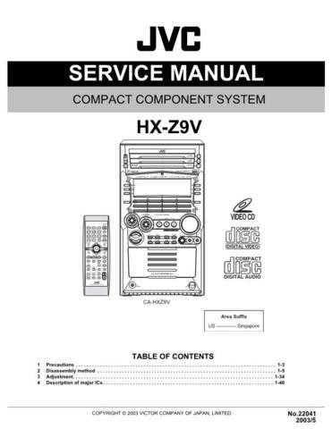 JVC HX-Z9 Service Schematics by download #156007