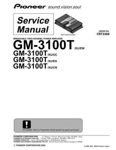 PIONEER C3368 Service Data by download #149208