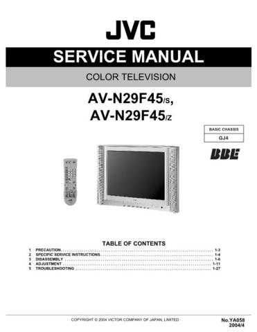 JVC AV-N29F45 Service Schematics by download #155429