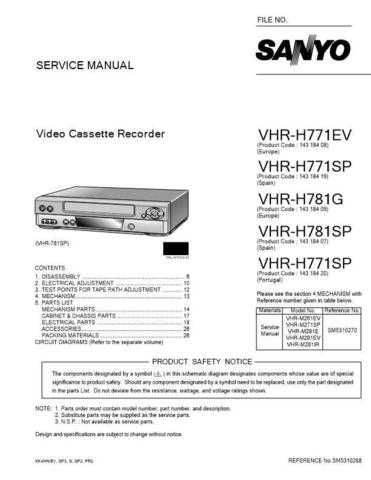 Sanyo SM5310268-00 1C Manual by download #176399