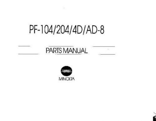 Minolta PF104 PF204 Service Schematics by download #137557