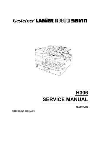 Lanier H306 Service Manual by download #156754
