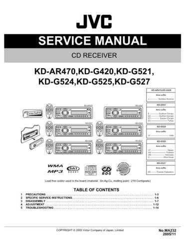 JVC KD-AR470J Service Schematics by download #156029
