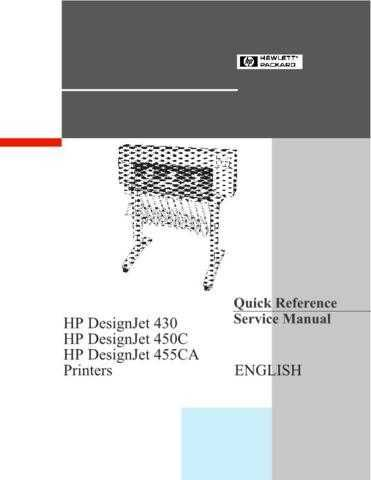 Hewlett Packard 20455CA 20- 20Quick 20Reference 20 20 Service Manual by downloa