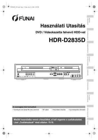 Funai HDR-D2835D E434KED HU 1ST Operating Guide by download #162657