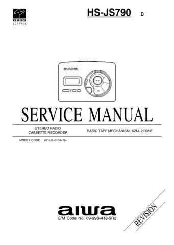AIWA HS-JS790 TECHNICAL INFO by download #125278