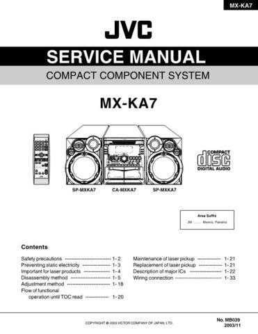 JVC MX-KA7 Service Manual by download #156386