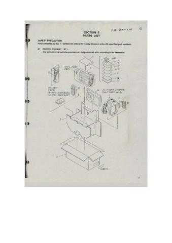 JVC GR-AXM310 parts Service Schematics by download #155558