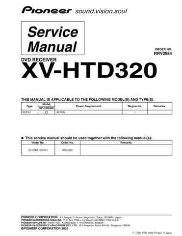 PIONEER R2584 Service Data by download #149688