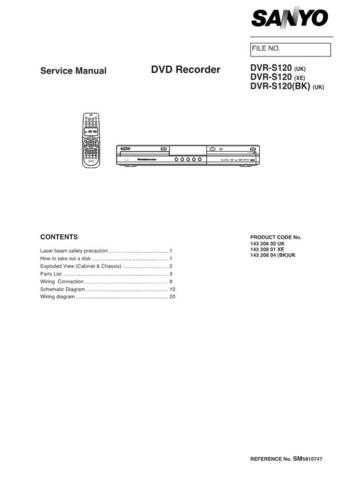 Sanyo DVR-HT120 Supplement(1) Manual by download #174201