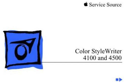 APPLE COLOR STYLEWRITER 4100 4500 Service Manual by download #149930