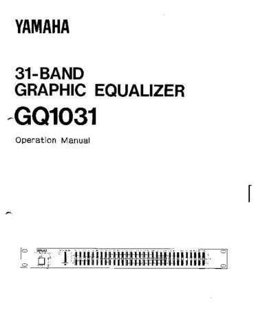 Yamaha GQ1031 EN Operating Guide by download Mauritron #204703