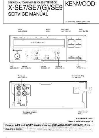KENWOOD XSE7 XSE9 Service Manual by download #152079
