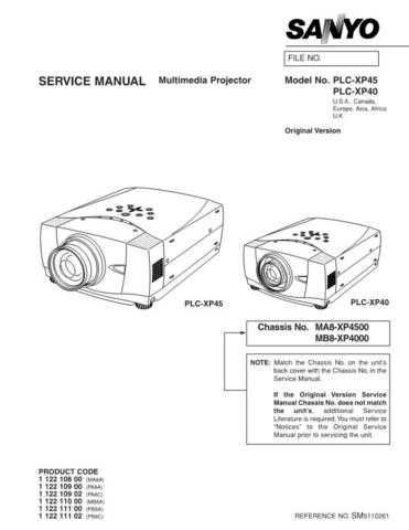 Sanyo PLC-XF31-01 Manual by download #174875