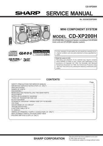 CDXP200H SERVICE MANUAL COM Service Data by download #132531