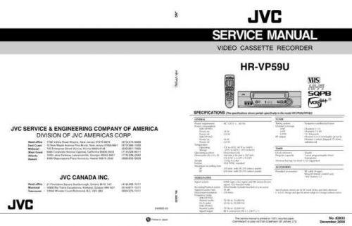 JVC HR-VP59U Service Schematics by download #155958