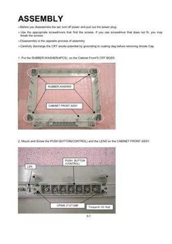 Mitsubishi Diamond Pro 730 03 ASSEMBLY Service Schematics by download #156851