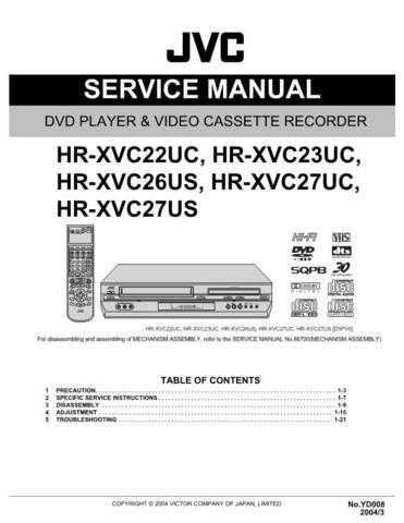 JVC HR-XVC27UM Service Schematics by download #155966