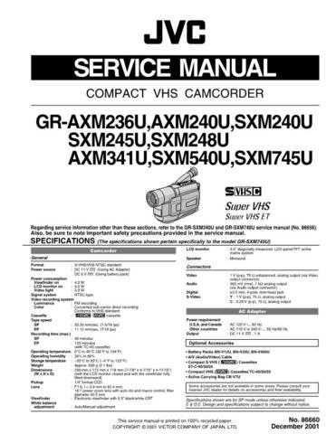 JVC GR-SXM240U CDC-1441 by download #155795