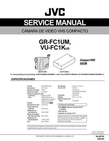 JVC GR-FCIUM CDC-1441 by download #155770