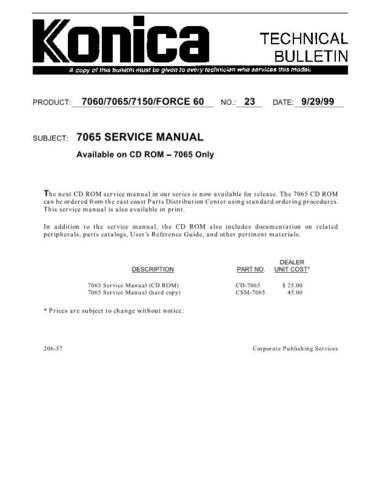 Konica 23 Service Schematics by download #135483