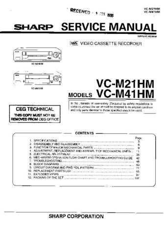 Sharp VCM522HM-015 Service Schematics by download #159002