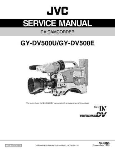 JVC GY-DV500 Service Schematics by download #155870