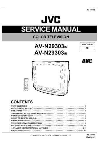 JVC AV-N29303 Service Schematics by download #155411