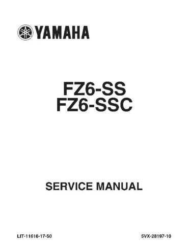 Yamaha FZ6-SS(SSC) 2004 Service Manual by download Mauritron