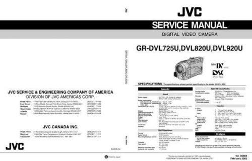 JVC GR-DVL920 CDC-1441 by download #155709