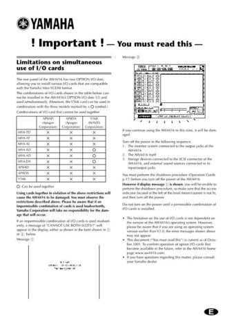Yamaha AW4416E6 Operating Guide by download Mauritron #204404