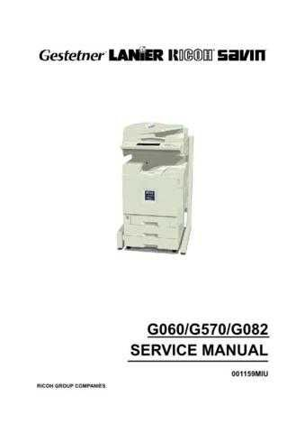 Lanier G060 Service Manual by download #156749