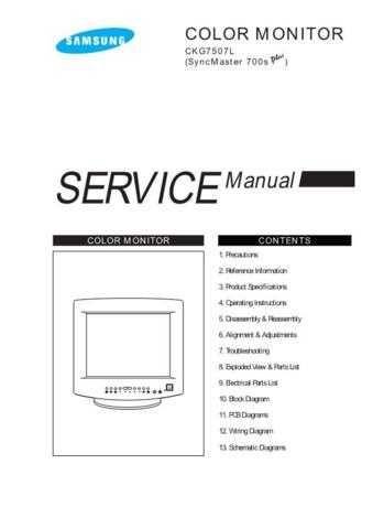 Samsung CKG7507LXX XAC31001101 Manual by download #164094